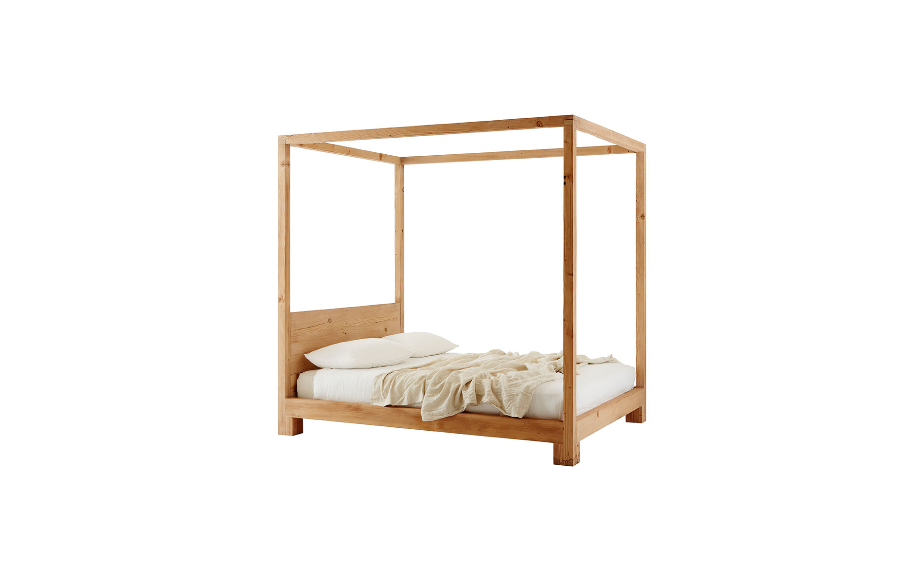 Attractive Simple 4 Poster Bed Part - 13: Simple 4 Poster